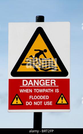 Procédure d'alerte de danger Sign Banque D'Images