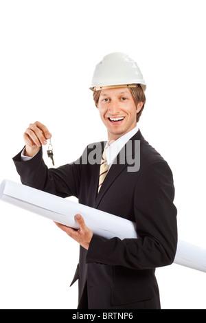 Un architecte de porter un chapeau et un costume a hotel