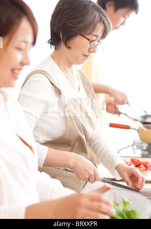 Une cuisine familiale Banque D'Images