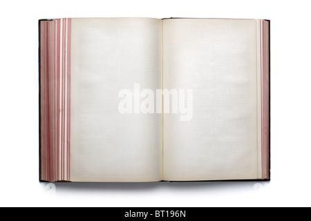 Livre ouvert vide Banque D'Images
