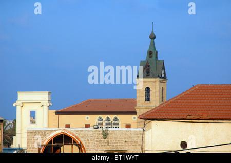 Israël, Jaffa, vue générale avec le tour de l'horloge turque ottomane construite à l'arrière-plan Banque D'Images