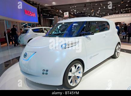 Nissan Townpod concept car électrique zéro émission à Paris Motor Show 2010 Banque D'Images