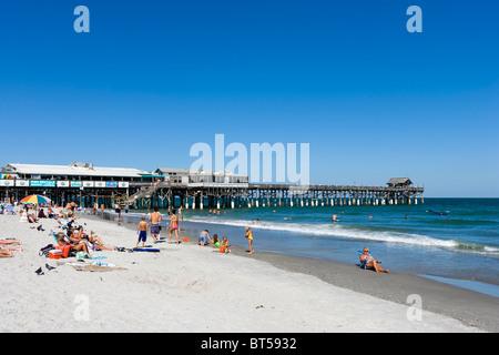 Cocoa Beach Pier, de l'espace littoral, Florida, USA Banque D'Images