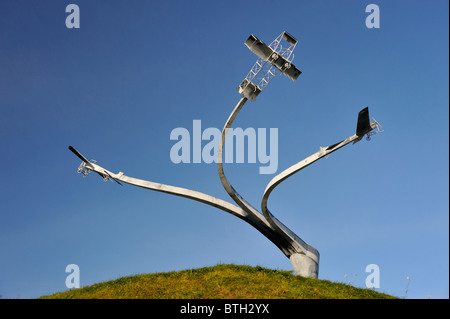 """Memorial l'esprit de vol'. Loch Lanark, Hyndford Street, Lanark, Lanarkshire, Écosse, Royaume-Uni, Europe."