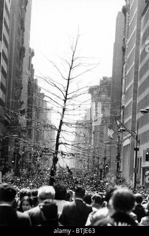 Le jour de la terre, la ville de New York, le 22 avril, 1970 Banque D'Images