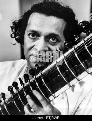 Ravi Shankar, musicien, compositeur, interprète et érudit, portrait, 1960 Banque D'Images