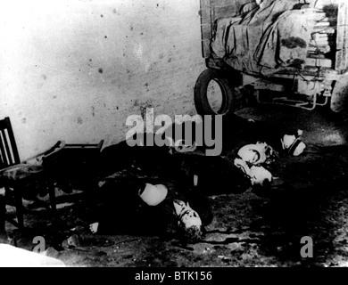 Saint Valentine's Day Massacre, Chicago, le 14 février 1929, Banque D'Images