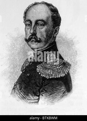 Tsar Nicolas Ier (1796-1855), Tsar de Russie (1825-1855), gravure 1886 Banque D'Images