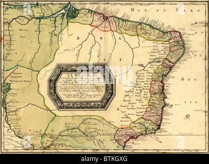 Carte Cote Bresil.1756 Carte Du Bresil Par Definition Geographique Sur La