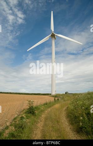Éolienne, Cornwall, UK. Banque D'Images