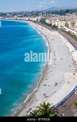 Promenade d'Anglais, Nice, Côte d'Azur, France Banque D'Images