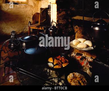 Un petit-déjeuner traditionnel, Ulster Fry, Irlande Banque D'Images