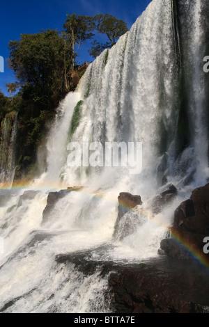 Iguassu Falls est la plus grande série de cascades sur la planète, situé au Brésil, l'Argentine et le Paraguay Banque D'Images