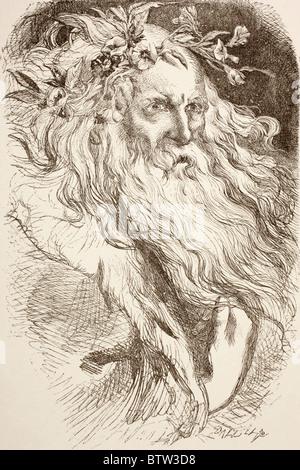 Illustration pour le Roi Lear de William Shakespeare. Banque D'Images