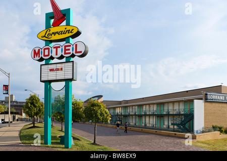 Le Lorraine Motel, site de l'assassinat de Martin Luther King Jr, National Civil Rights Museum, Memphis, Tennesse, USA