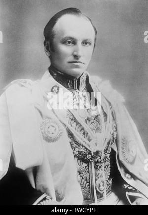 Vintage photo portrait c1900 de Lord Curzon (George Curzon, 1er marquis Curzon de Kedleston) en tant que vice-roi Banque D'Images