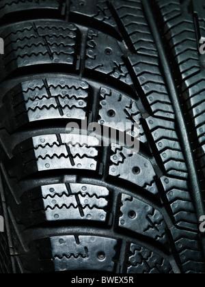 Libre de la bande de roulement des pneus d'hiver pour la voiture de la texture Banque D'Images