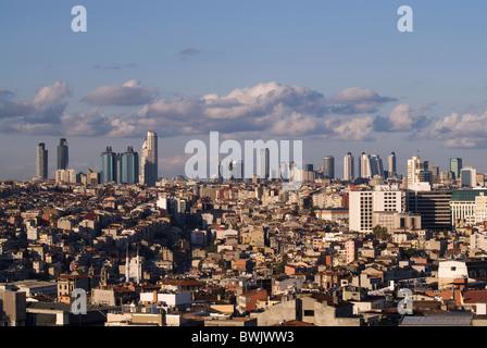 Ancienne et nouvelle partie d'istanbul Banque D'Images