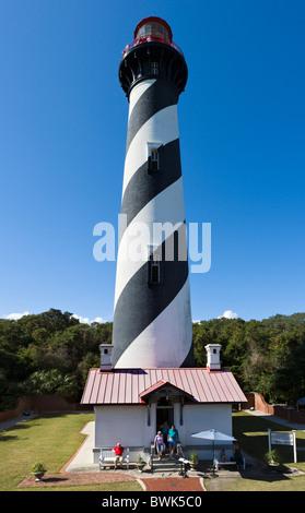 La lumière de saint Augustin, Anastasia Island, St Augustine, Floride, USA Banque D'Images