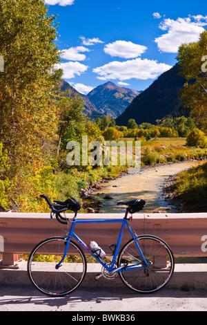 Location et la rivière Uncompahgre, Uncompahgre National Forest, Colorado Banque D'Images