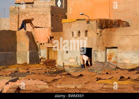 Maroc Marrakech Travaux Rue des tanneries Banque D'Images