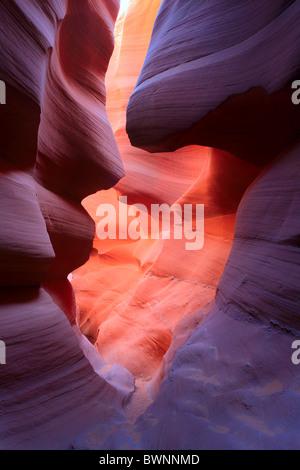 Murs de grès dans Lower Antelope Canyon Banque D'Images
