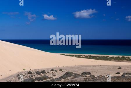 L'île de Fuerteventura Canaries Canaries Espagne Europe hors de Sotavento de jour les dunes de sable des dunes de Banque D'Images