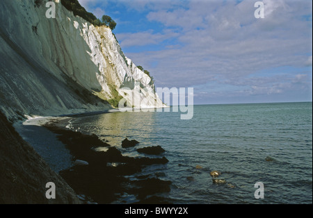 Danemark Europe island île Mon roches paysages mer côte raide mer plage d'humeur