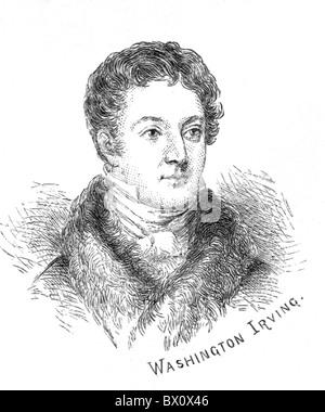Image d'Archive historique des figures littéraires. C'est Washington Irving.