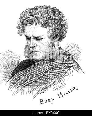 Image d'Archive historique des figures littéraires. C'est Hugh Miller.