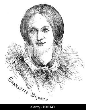 Image d'Archive historique des figures littéraires. C'est Charlotte Bronte
