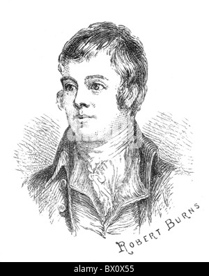 Image d'Archive historique des figures littéraires. C'est Robert Burns