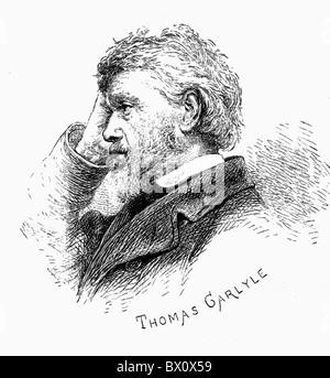 Image d'Archive historique des figures littéraires. C'est Thomas Carlyle.