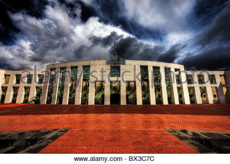 Nouveau Parlement House, Canberra, Australie. Banque D'Images