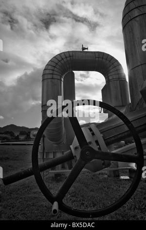 Pris sur l'installation d'un système géothermique dans les Açores utilisés pour produire de l'énergie/électricité Banque D'Images