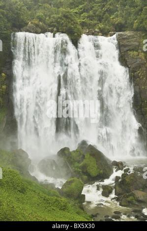 Marokopa Falls, Waikato, île du Nord, Nouvelle-Zélande, Pacifique Banque D'Images
