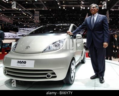 Ratan Tata, Tata Nano Naval, location Banque D'Images
