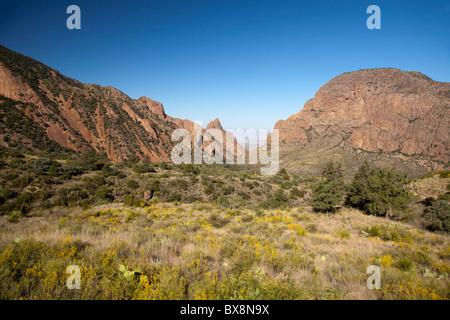 Big Bend National Park, Texas - la fenêtre, une lacune dans la montagnes Chiso qui diminue au désert de Chihuahuan ci-dessous.