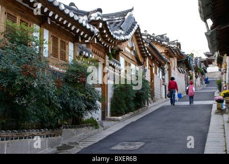 Le village de Bukchon Hanok, Séoul, Corée du Sud Banque D'Images