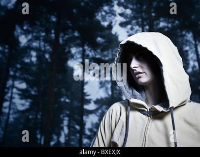 Sweats Femme en bois Banque D'Images