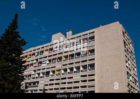 Unite d'Habitation de Le Corbusier, Marseille, France Banque D'Images