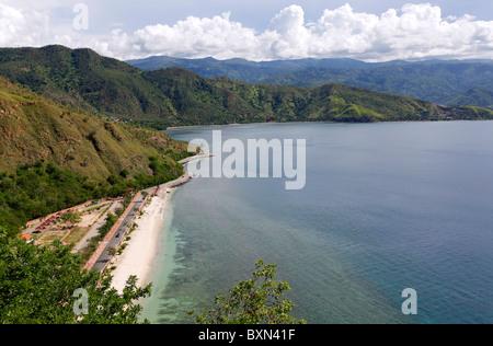 Le littoral du Cap, Fatucama beach près de Dili, Timor-Leste (Timor oriental) Banque D'Images