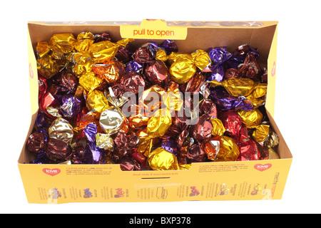 Boîte de chocolats Moments Thorntons Banque D'Images