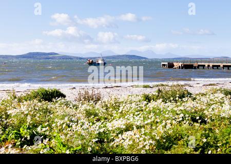 Recherche à travers le son de Gigha de Tayinloan sur la péninsule de Kintyre, ARGYLL & BUTE, Ecosse. Gigha et Jura Banque D'Images