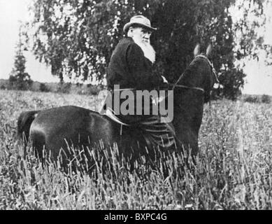 Léon Tolstoï (1828-1910) écrivain russe Banque D'Images