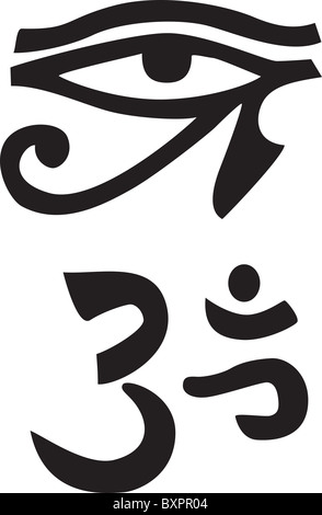 Horus Ouadjet Oeil Oeil De Ra Hieroglyphique Egyptienne Antique