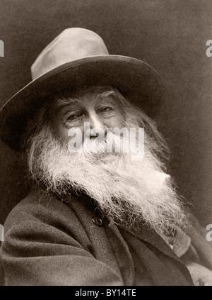 Walt Whitman, 1819-1892. Le poète américain. Banque D'Images