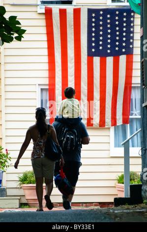 Grand drapeau américain, Annapolis, Maryland, USA, 4 juillet Banque D'Images