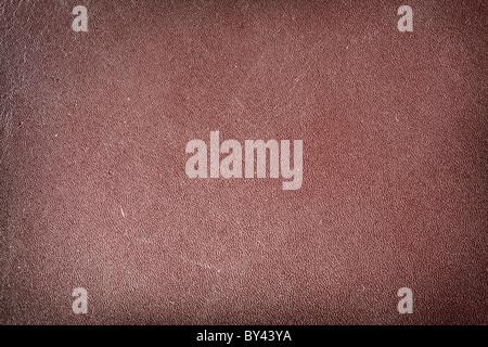 La texture de l'image de cuir brun. Banque D'Images