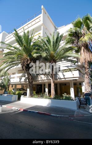 Israël, Tel Aviv, l'architecture du Bauhaus dans Sheinkin Street No 65 Banque D'Images